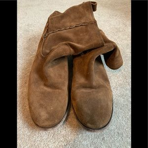 Brown Suede Frye Boots